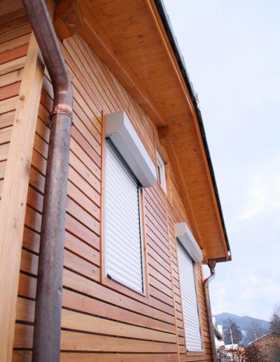 gartenhaus holzziegel mit Lärchenfassade rombus 2